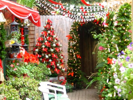 Ideas navide as para el jard n decoraci n y bricolaje for Decoracion navidena para exteriores