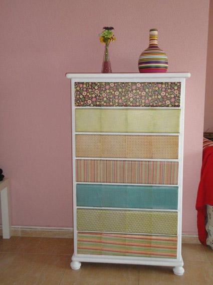 Gaveteros remodelados decoraci n y bricolaje - Muebles pintados de colores ...