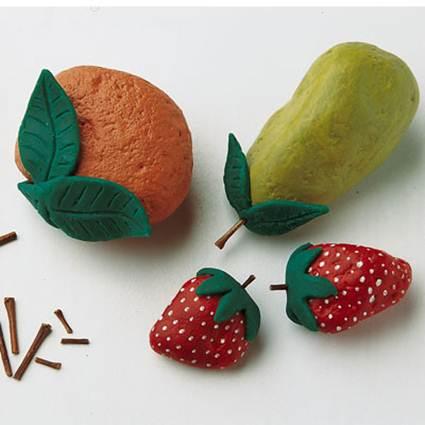 Frutas con piedras